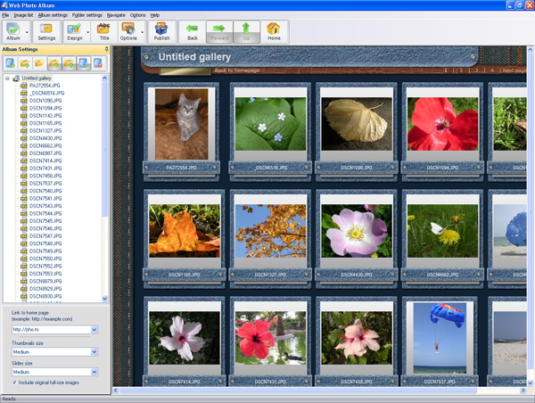 Screenshot of Web Photo Album